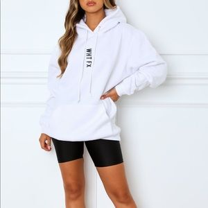 White fox boutiqie all in oversized hoodie white
